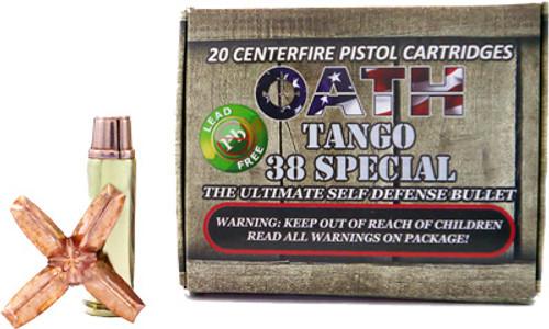 Oath Tango .38 Special, 100 Gr, 20rd/Box