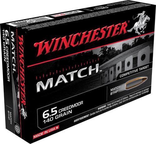 Winchester Match 6.5 Creedmoor 140gr, BTHP, 20rd Box