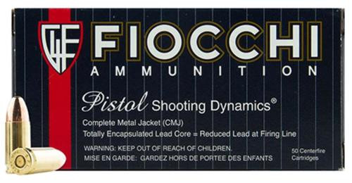 Fiochhi 9mm, 115 Gr, CMJ, 50rd Box