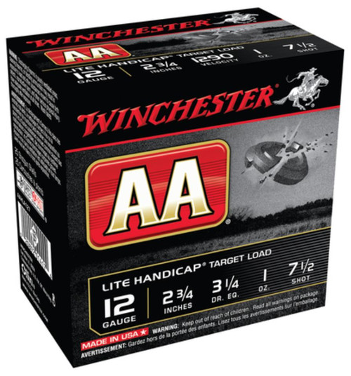 "Winchester AA Wads Lite Handicap 12 Ga, 2.75"", 1290 FPS, 1oz, 7.5 Shot, 250rd/Case (10 Boxes of 25rd)"