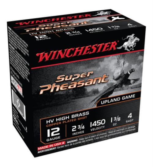 "Winchester Super-X Pheasant High-Velocity 12 Ga, 2.75"", 1.375oz, 1450 FPS, 4 Shot, 25rd/Box"
