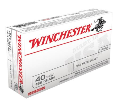 Winchester USA .40 SW 165 Gr, FMJ, 50rd Box