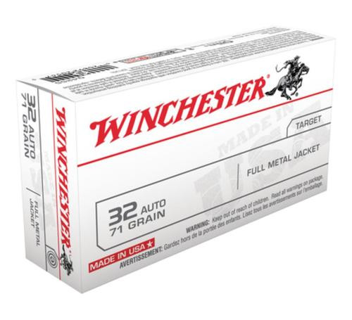 Winchester USA 32 ACP Full Metal Jacket 71gr, 50Box/10Case