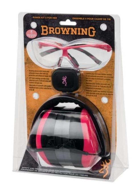 Browning Range Kit II For Her- Muff, Glasses & Ear Plugs