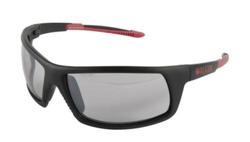 Allen Ruger Crux Ballistic Shooting Glasses Black Frame Mirror Smoke Lens