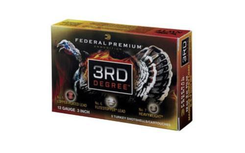 """Federal Third Degree Turkey 12 Ga 3.5"""" 2 Ounces of 5/6/7 Shot FlightControl Wad, 5rd/Box"""