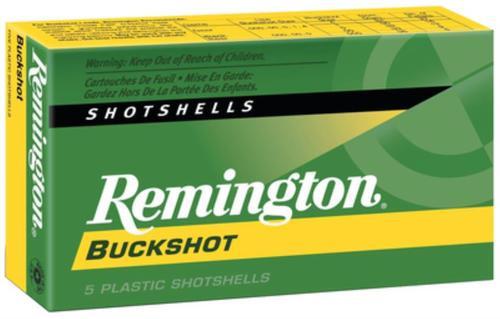"Remington 00 Buckshot Express 12 Ga, 2.75"", 9 Pellets, 5rd/Box"