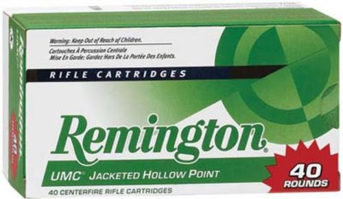Remington UMC Value Pack 22-250 Rem 45GR JHP 40rd/Box