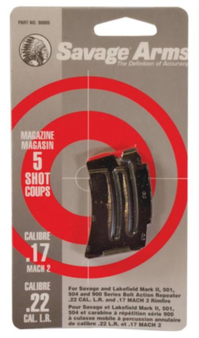 Savage Magazine For Mark II & 900 22LR/.17 Mach2, Stainless Steel, 5rd