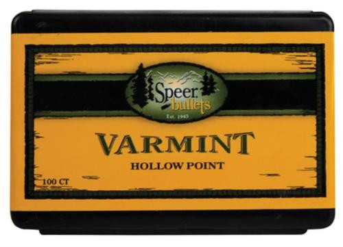Speer Rifle Bullets 22 Caliber .224 50gr, Varmint Spitzer Soft Point 100 Box