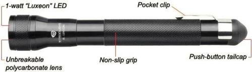 Streamlight Streamlight Jr. LED Flashlight 85 Lumens AA (2) Aluminum Black