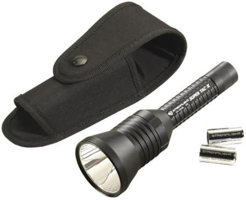 Streamlight Super Tac X Flashlight With Holster 200 Lumens CR123A Lithium Cells Black