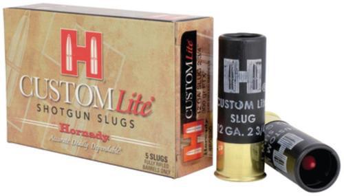 """Hornady Custom Lite, 12 Gauge, 2.75"""", 300gr, FTX, Sabot Slug, 5rd Box"""