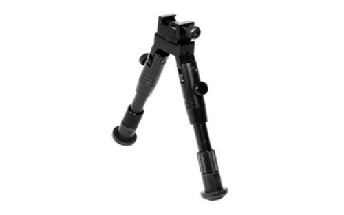 """Leapers, Inc. - UTG Shooter's SWAT Bipod, Fits Picatinny Rail or Swivel Stud, 6.2"""" - 6.7"""", Tactical Low Profile with Adjustable Height, Black"""