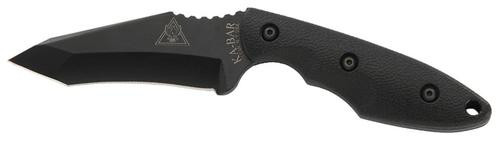 "Ka-Bar TDI Hell Fire Fixed 3.6"" 1095 Cro-Van Recurve Tanto Nylon Black"