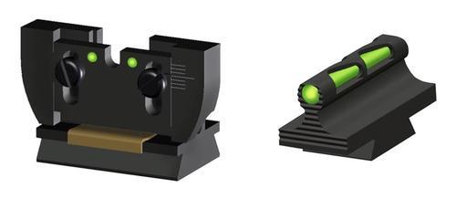 Hiviz Ruger 10/22 Black Front/Rear Assorted Green/Red