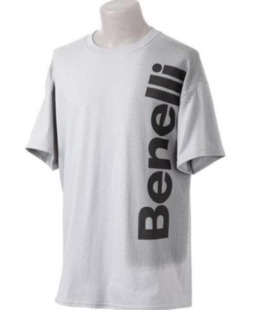 Benelli Vertical Logo T-Shirt, Gray, Small