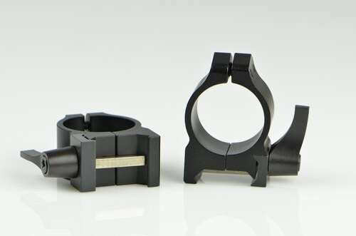 Warne 1 Inch, QD, Low Matte Rings, Steel, Fixed for Maxima/Weaver Style or Picatinny Bases