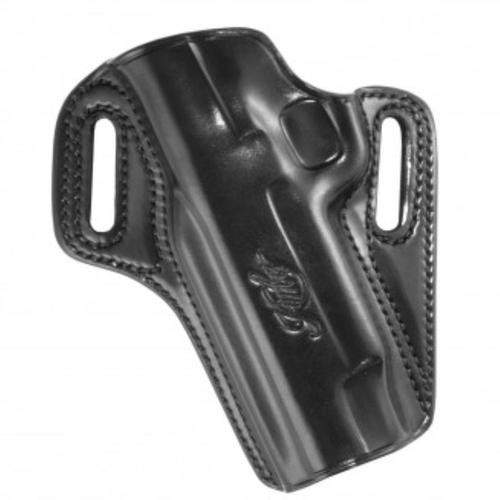 Kimber Concealable holster for 1911 with light rail (left hand) for full-size (5-inch) 1911 models with rail black leather Kimber logo by Galco