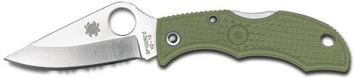 Spyderco Lady Bug Folder Plain Edge VG-10 Clip Point FRN Foliage Green