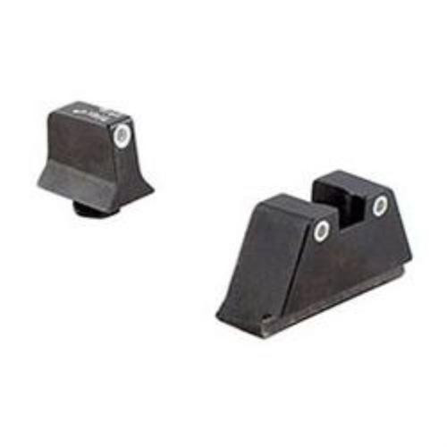 Trijicon Bright & Tough Night Sight Suppressor Set White front/White rear with Green Lamps for Glock 20/21/29/30/41