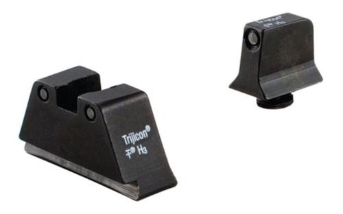 Trijicon Glock Suppressor Night Sight Set Black Front/Black Rear with Green Lamps for Glock 17/17L/19/22/23/24/25/26/27/28/31/32/33/34/35/37/38/39