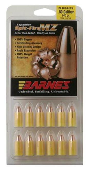 Barnes 45154 Muzzleloader 50 Black Powder Spit-Fire MZ 285gr, 24Pk