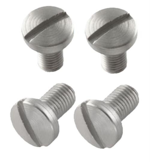 Hogue Slotted Grip Screws Colt Government 4 Slot Stainless Steel