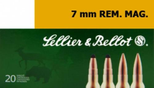 Sellier and Bellot 7mm Rem Mag 173 Spce 20Rd/Box