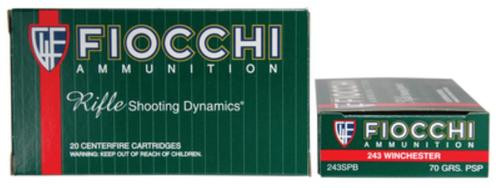 Fiocchi Shooting Dynamics .243 Winchester 70gr, Pointed Soft Point 20rd Box