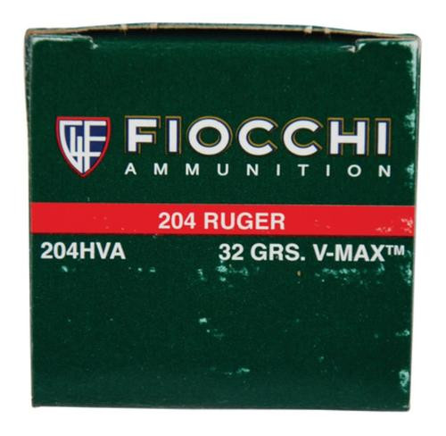 Fiocchi Extrema Hunting .204 Ruger 32gr, V-Max, 50rd Box