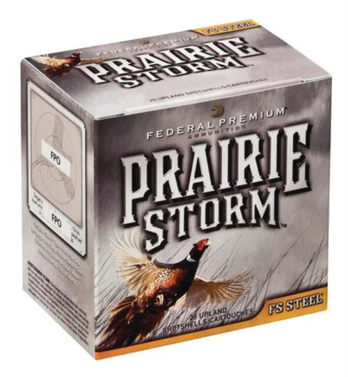 "Federal Premium Prairie Storm FS Steel 12 Ga, 3"", 1600 FPS, 1.125oz, 3 Shot, 25rd/Box"