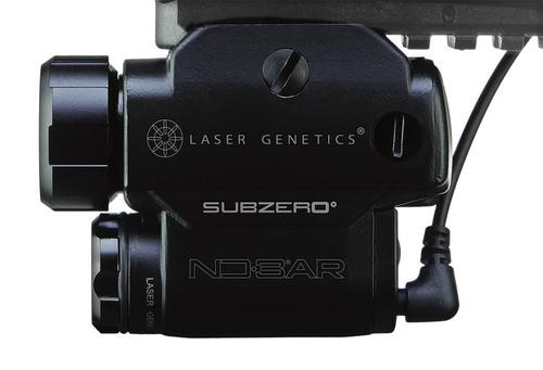 Laser Genetics Green Laser, AR Mount, 5mw Adjustable Intensity Up to 3mi, 1-CR-123A Lithium