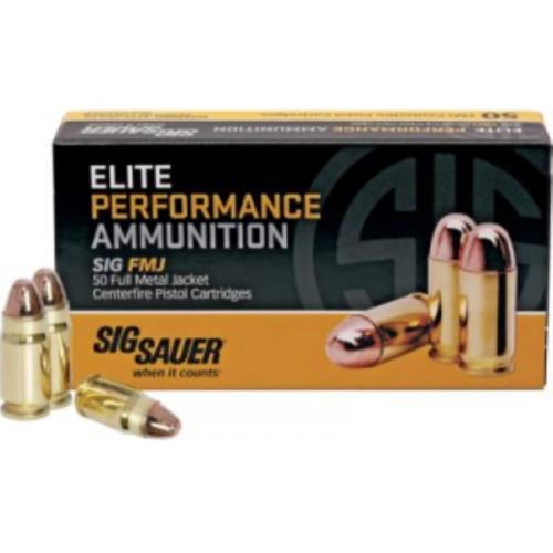Sig Ammo 357Sig 125Gr Elite Ball FMJ 50rd Box