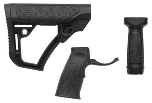 Daniel Defense Buttstock/Pistol Grip/Vertical Foregrip Combo Black
