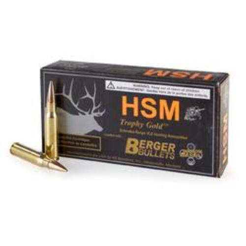 HSM Trophy Gold 6.5mmX55mm Boat Tail Hollow Point 140 gr, 20Rds