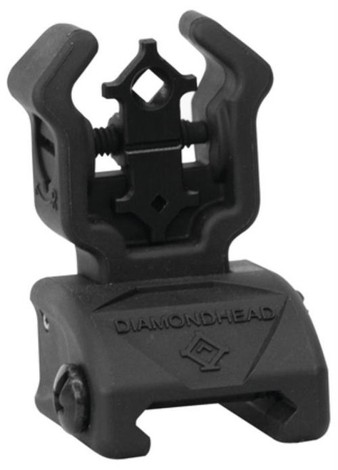 Diamondhead Diamond Flip Up Rear Polymer Sight With NiteBrite Black