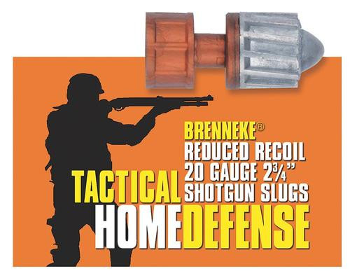 "Brenneke 2002925 Tactical Home Defense 20Ga Rifled Lead 2.75"" 3/4Oz Slug 5 Bx/50Cs"
