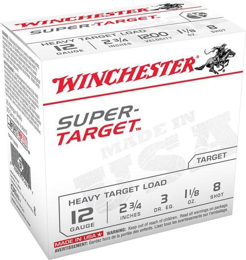 "Winchester Super Target 12 Ga, 2.75"", 1-1/8oz, 8 Shot, 25rd/Box"