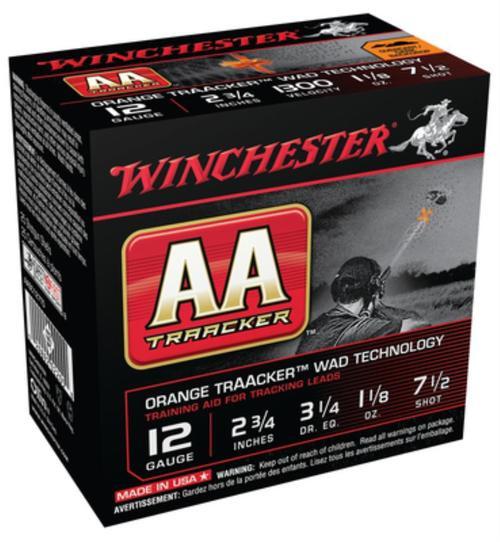 "Winchester AA TrAAcker 12 Ga, 2.75"", 1300 FPS, 1.125oz, 7.5 Shot, 25rd/Box"