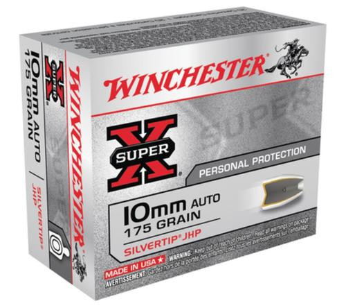 Winchester Super X 10mm Silvertip HP 175gr, 20Box/10Case