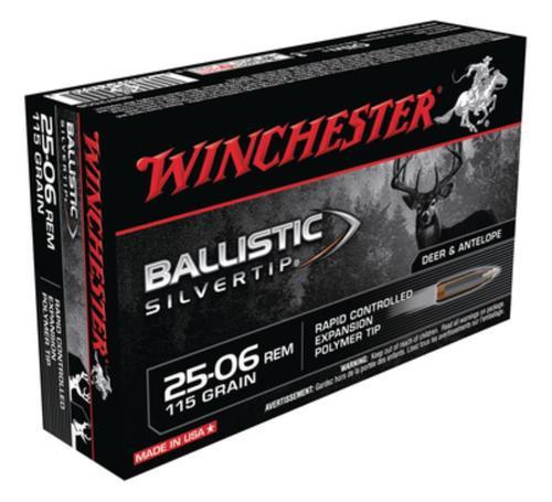 Winchester Ballistic Silvertip .25-06 Remington 115gr, 20rd Box