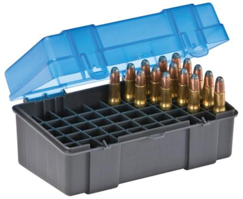 Plano Molding Flip Top Small Rifle Ammo Case 50rd Gray/Blue