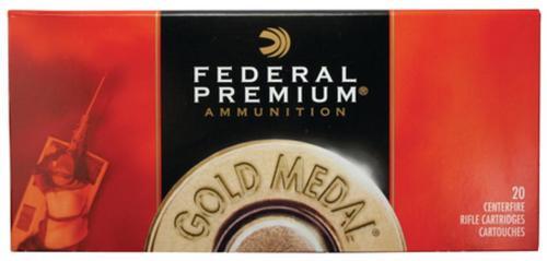 Federal Gold Medal .338 Lapua 250gr, Sierra MatchKing Boattail Hollow Point 20rd Box