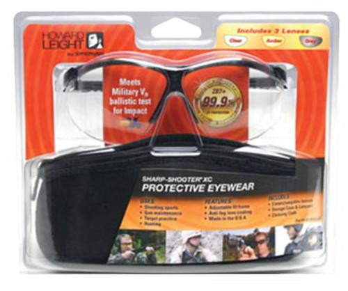 Howard Leight Genesis Shooting/Sporting Glasses Black Frame/Clear/Gray/Am