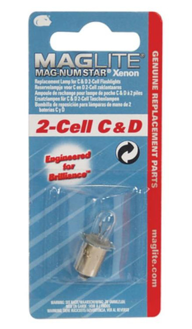 Maglite LMXA201 Mag Replacement Lamp 2D Clear 1pk