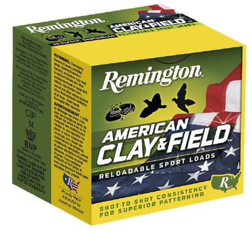 "Remington American Clay & Field 12 Ga, 2.75"", 1-1/8 oz, 9 Shot, 25rd/Box"