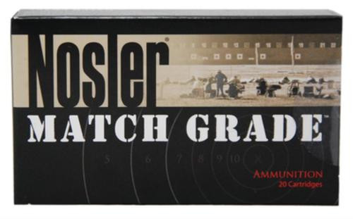 Nosler Match Grade Handgun Ammunition 9mm 115gr, Jacketed Hollow Point 20rd Box