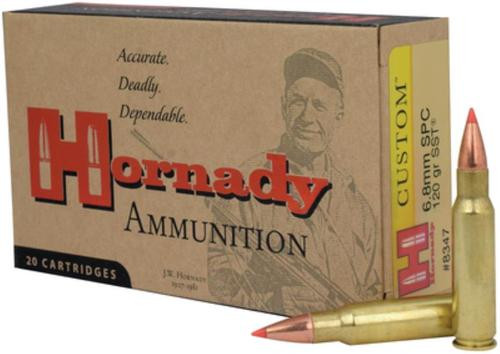 Hornady Custom 6.8 Remington 120 Gr, SST, 20rd Box