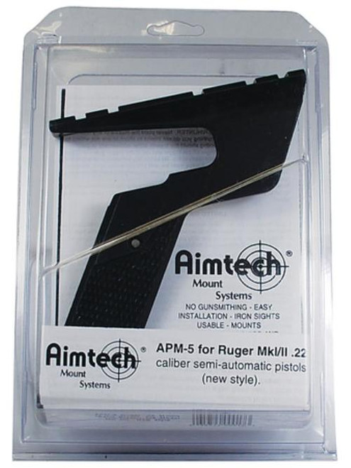 Aimtech Mount Systems Semi-Auto Pistol Scope Mount Ruger MK I/II .22 Caliber New Style